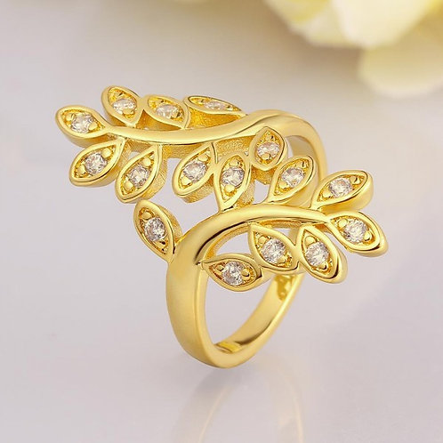 Nature Lover 18k Gold Plated Ring