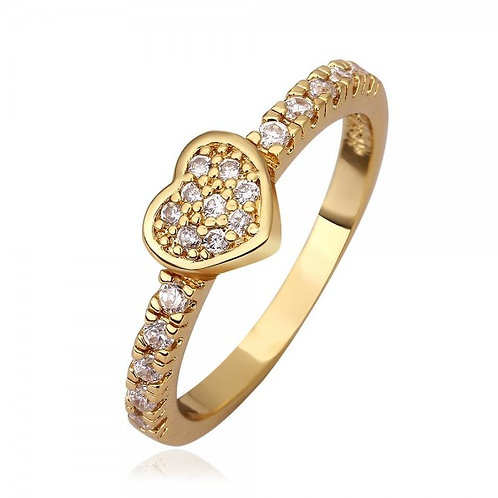 Fiona Heart 18K Gold Plated Ring