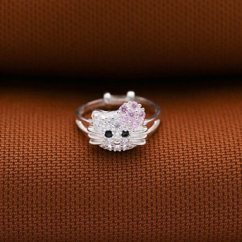 Hello Kitty Ring for Kids A 925 Silver by Argento