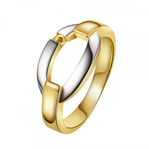 Gabrielle Dual-Tone 18K Gold Plated Ring