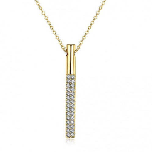 18k Gold Plated Prism Necklace