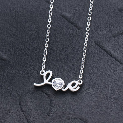 Intimate Love 316L Stainless Steel Silver Necklace