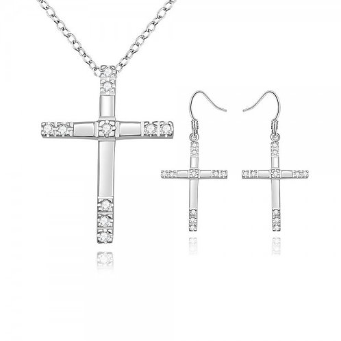 Maggie Cross Silver Plated Set