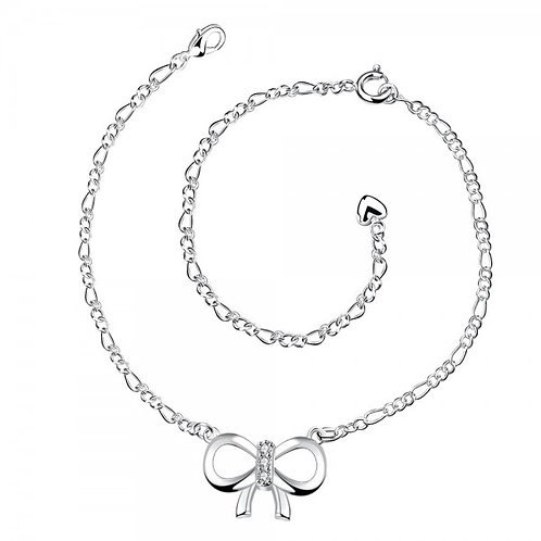 Arlette Ribbon Silver Plated Anklet