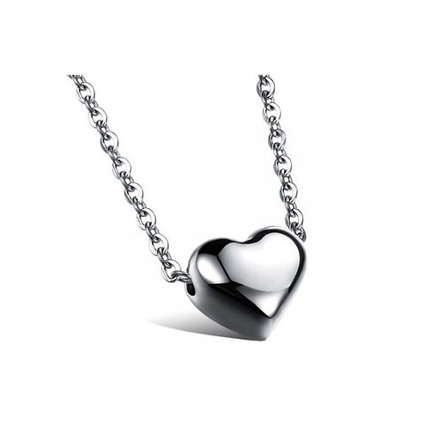 Raven 316L Stainless Steel Silver Necklace
