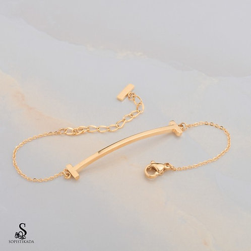 Lexi Stainless Steel Gold Plated Bracelet