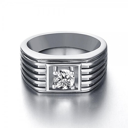 Joffrey White Gold Plated Ring for Men