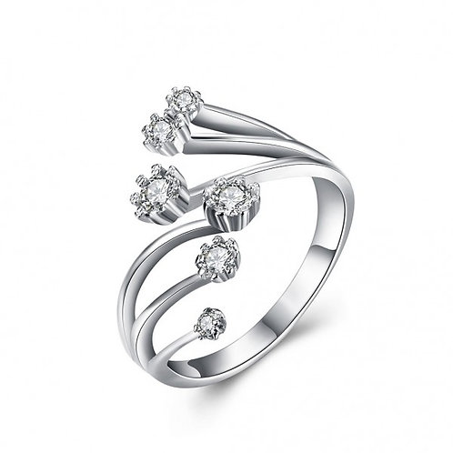 Crusita 925 Argento Silver Adjustable Ring