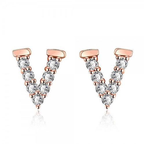 Vivian 18K Rose Gold Plated Earrings