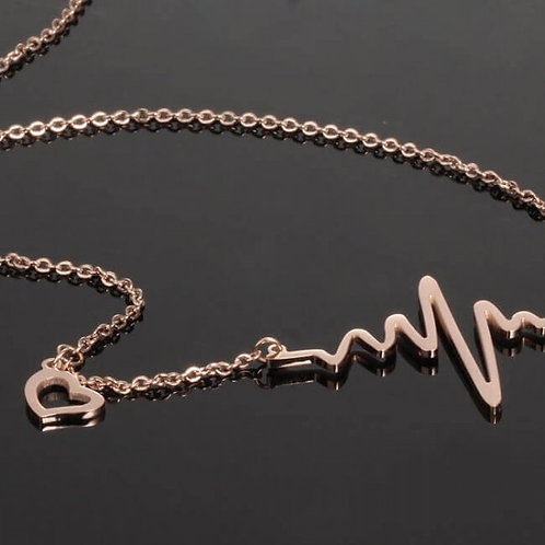 Lifeline 316L Stainless Steel Rosegold Necklace