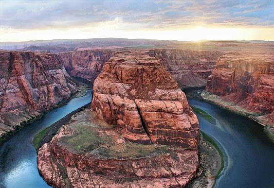 Horseshoe Bend Page Arizona Sunset Photo