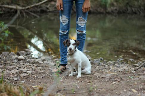 Girl with Dog in Cottonwood Arizona Artistic Portrait