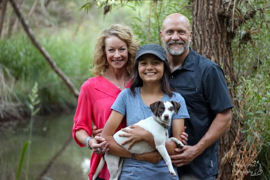 Cottonwood Family with Dog