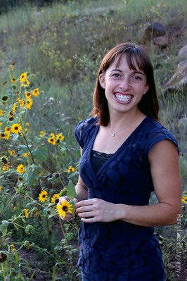 Wildflower Portrait Woman in Flagstaff Arizona