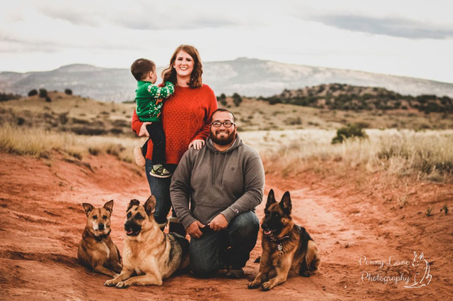 Family with Dogs Holiday Portraits Pet Photographer