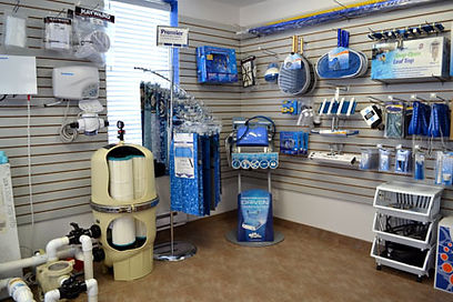 Pressure Clean Pool Showroom with various pool products