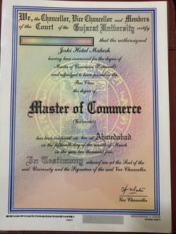 Masters of Commerce Graduate Certificate