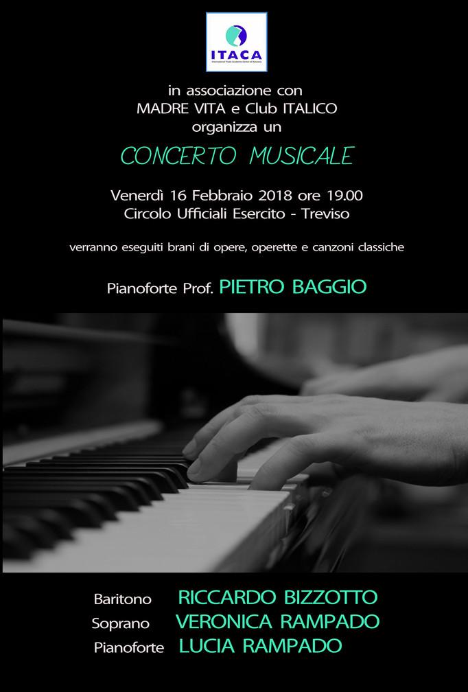 CONCERTO MUSICALE AL CIRCOLO UFFICIALI DI TREVISO