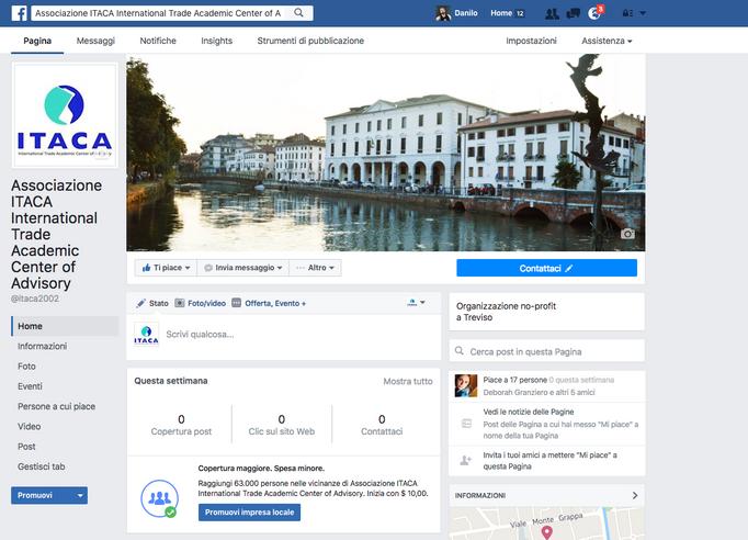 """La  nuova pagina Facebook dell'Associazione ITACA sul Festival Internazionale """"ORFEO IN ITA"""