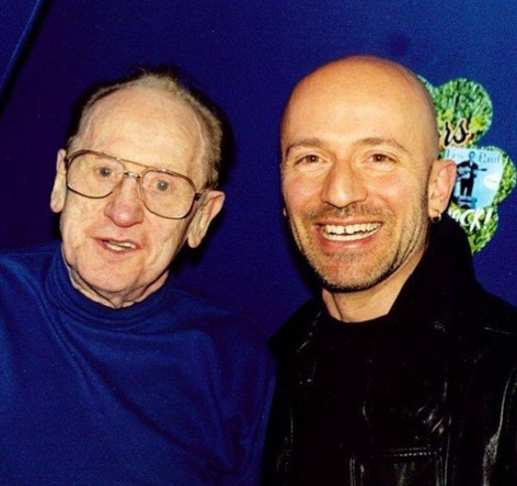 Les Paul & Mark pose at The Iridium