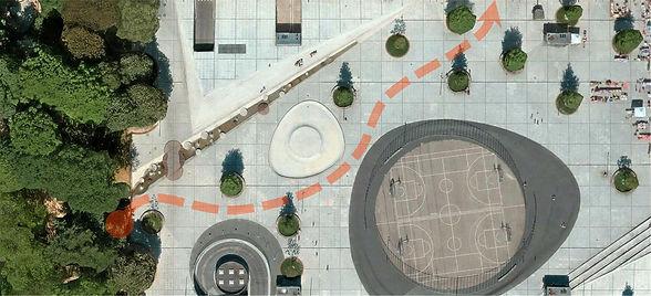 Billede af rute som går udenom forhindringer