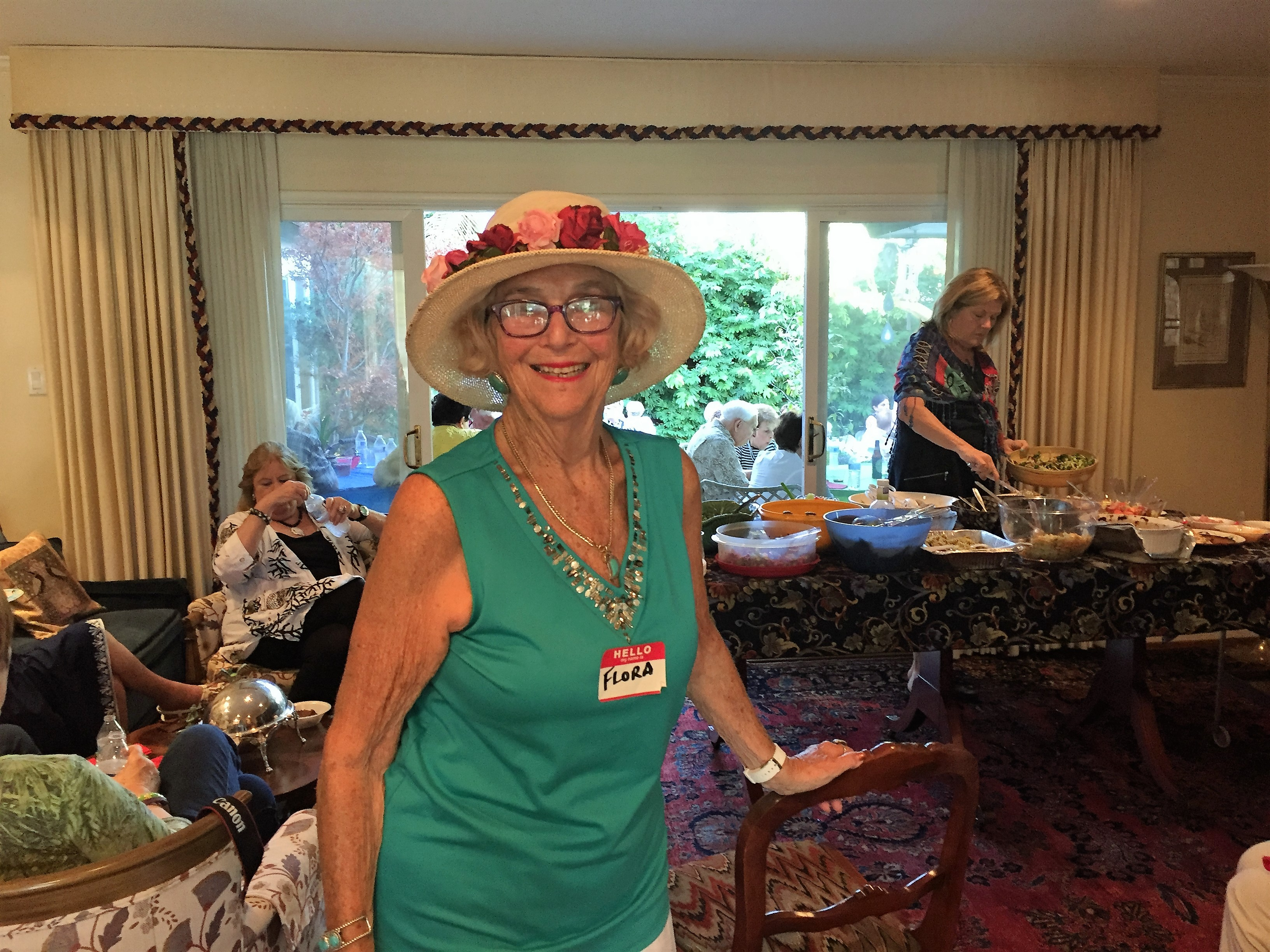 Flora in her finest at the summer potluck 2016