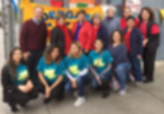 Kfest volunteers with Superintendant Chr