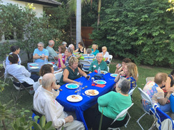 Wonderful summer potluck 2016, thanks to Audrey's hospitality
