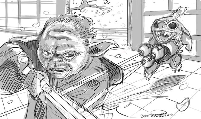 Yoda vs. Stitch