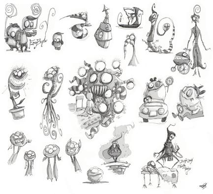 Tim Burton Inspired Doodles