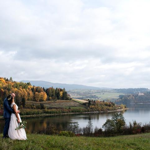 Autumn rustic destination mountain wedding