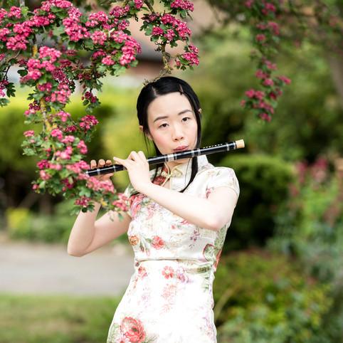 Subtle portrait photo shoot in Dorridge, Solihull with a Korean beauty
