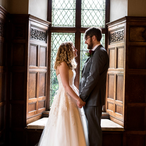October woodland wedding at Rothley Court