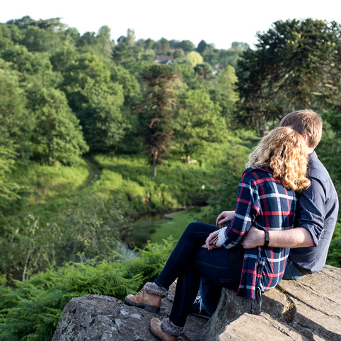 Natural evening engagement photoshoot in Bradgate Park - E&L