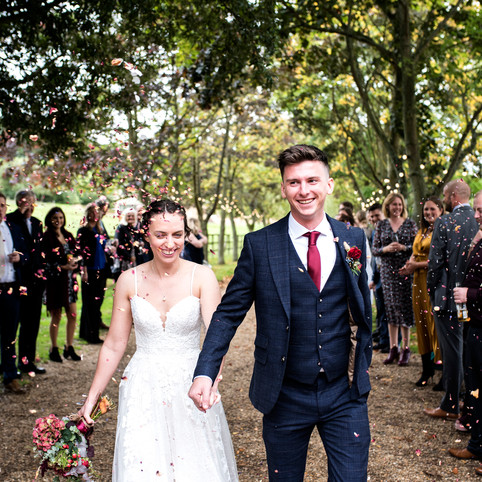 Autumn barn wedding in Wood Farm at Everdon, Northamptonshire - Ruth and Luke