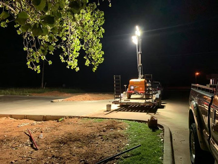 Parking Lot Poured at 4:00 a.m.