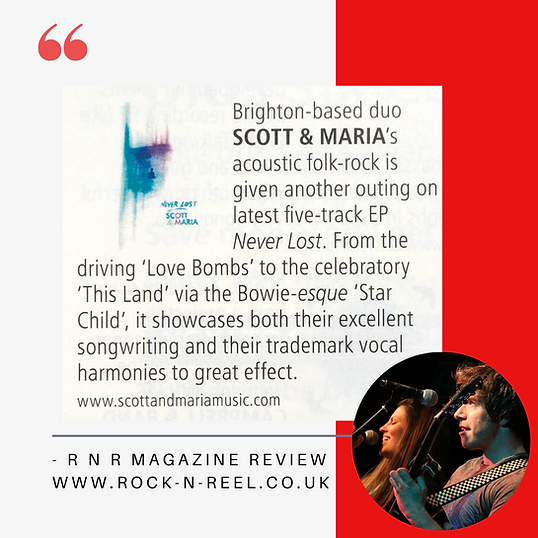 Rock N Reel Magazine review of Scot & Ma