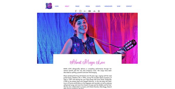 Maya Love website created by Creative So