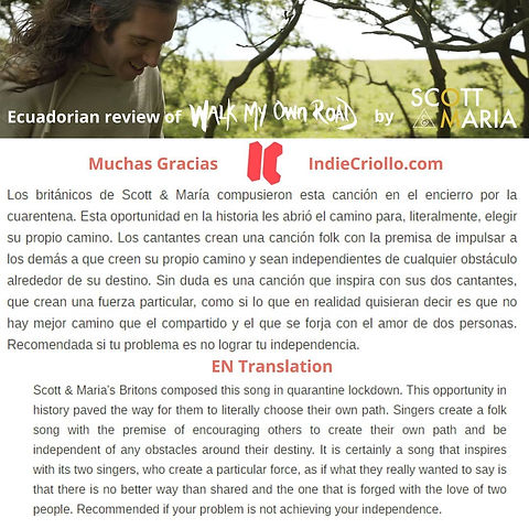 Scott & Maria review by Indie Criollo -