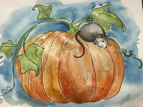 ART BOX: Pumpkin and Mouse