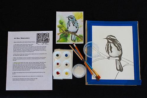 ART BOX: Black and White Bird