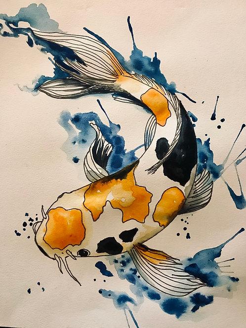 ART BOX: Koi Watercolor