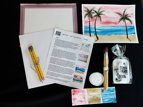 ART BOX: Beach Sunset