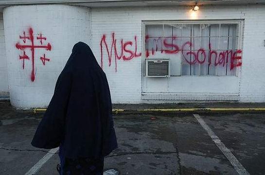 mosque vandalism crosses.jpeg