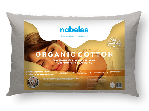 Travesseiro Organic Cotton Ecológico de Algodão Orgânico 50x70cm
