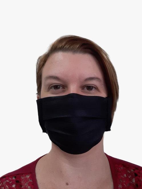 Máscara De Tecido com Íons de Prata e Clip Nasal Preta com 05 Unidades