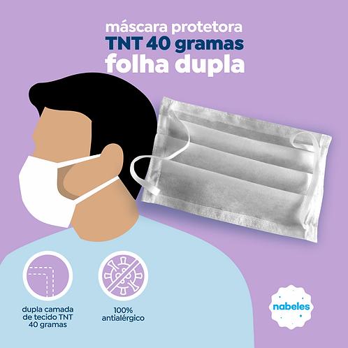 Mascara em TNT Dupla camada com Clip Nasal Pacote com 50 un.