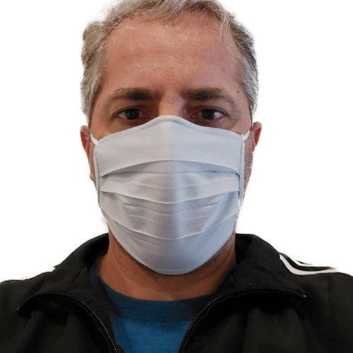 Máscara De Tecido com Íons de Prata e Clip Nasal Cinza com 10 Unidades