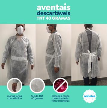 avental TNT 40gr