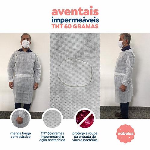 Avental Tnt Descartável 60gr Impermeável com 10un.